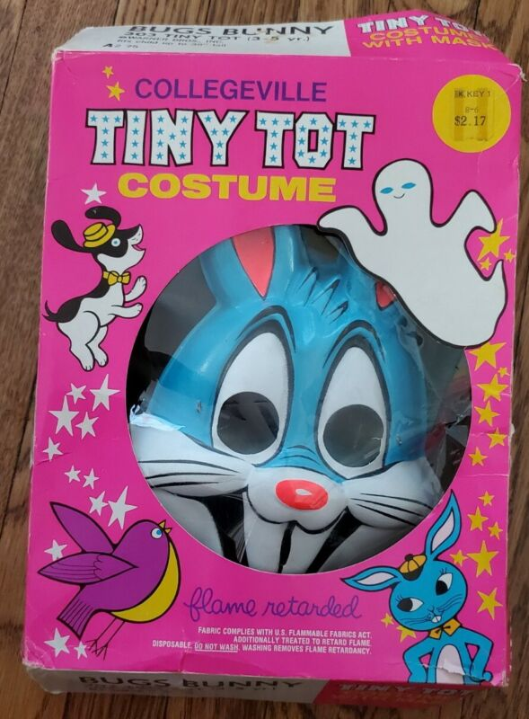"""VINTAGE BUGS BUNNY 303 HALLOWEEN COSTUME W/MASK (3-5) COLLEGEVILLE, up to 39"""""""