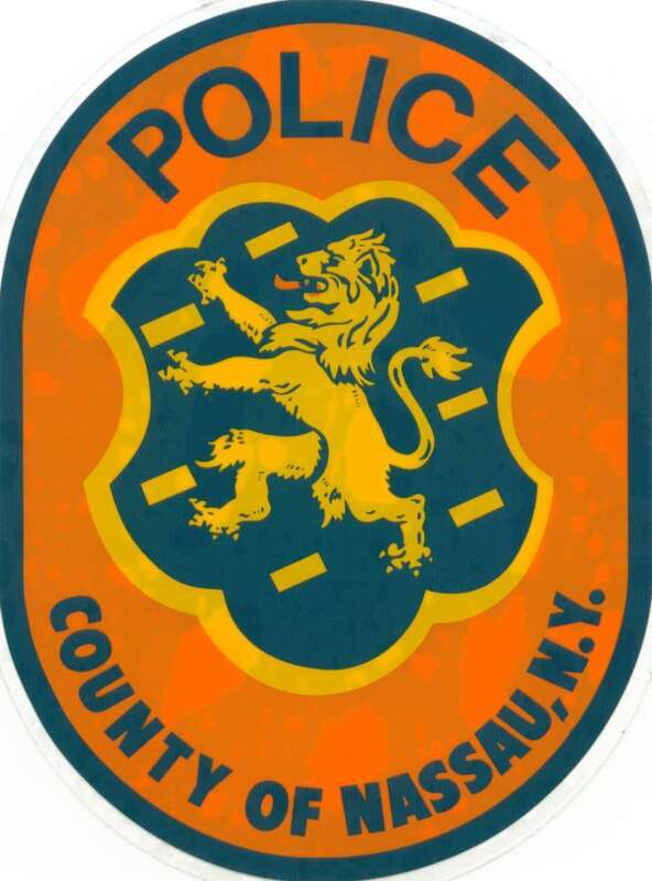 *INSIDE* NASSAU COUNTY POLICE WINDOW DECAL PBA