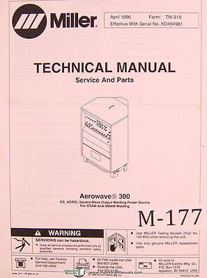 Miller Aerowave 300 Cc Acdc Welding Power Source Graw Smaw Welding Manual