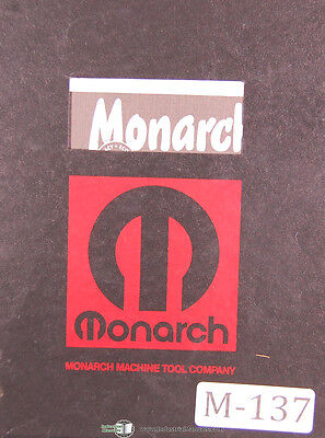 Monarch Series 61 Engine Toolmakers Lathe Operators Parts Tracer Manual