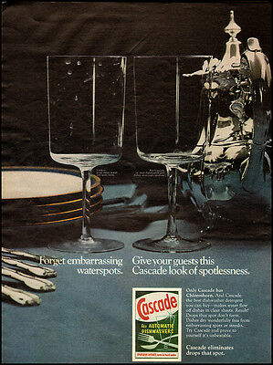 (1968 Vintage ad for Cascade for Automatic Dishwashers  (040112))