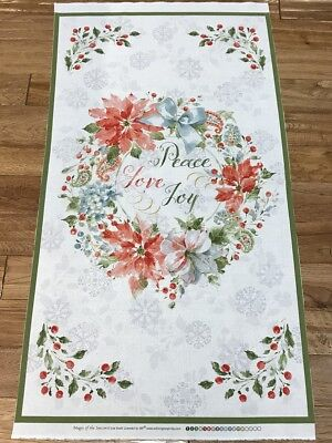 Christmas Magic of the Season Peace, Love, & Joy quilters cotton Fabric Panel ](Christmas Magic)