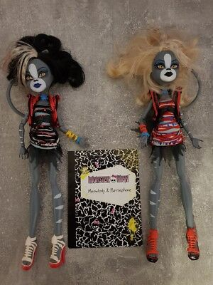 Monster High Meowlady & Purrsephone Puppen Zombie Shake 2er Set- (Monster High Puppen Set)