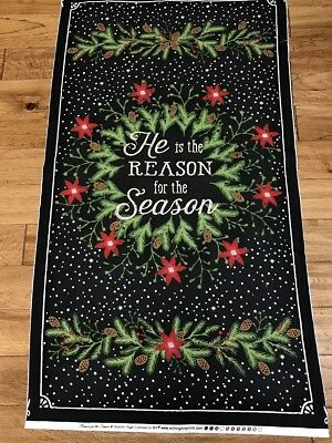 Beautiful Reason for the Season Christmas quilters cotton Fabric Panel sew craft