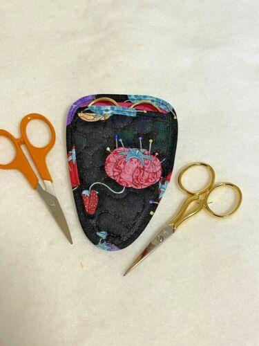 Handmade Tomato Pincushions Quilted embroidery needlework scissor holder
