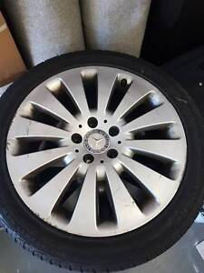 17'' Mercedes C class(w204) alloys with tires, good thread Rocklea Brisbane South West Preview