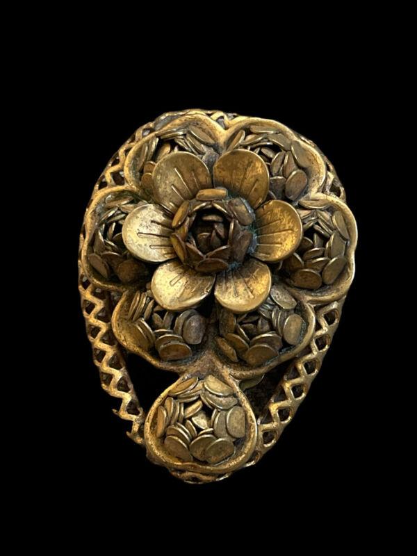 Antique Victorian Edwardian Flower Dress Scarf Clip Pin