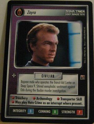 Star Trek TNG CCG Dominion Zayra Rare Card
