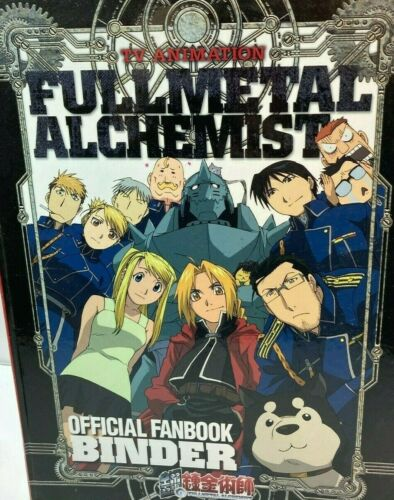 FullMetal Alchemist TV Animation Official Fan Book Binder Volumes 1,2,3 Japanese