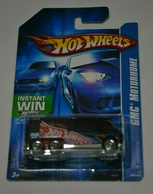 2006 HOT WHEELS GMC MOTORHOME BLACK ON INSTANT WIN CARD 208/223