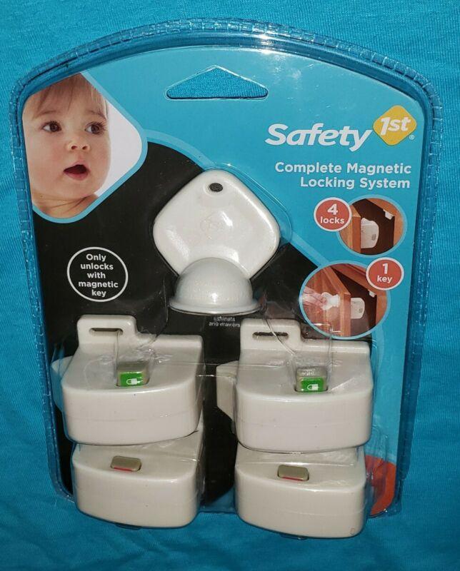 Safety 1st Magnetic Locking System 5 Piece Starter Set 4 Loks 1 Key NIP FREE S&H