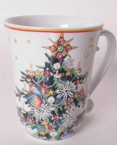 set/4 New Williams Sonoma Twas the Night Before Christmas Tree coffee mugs