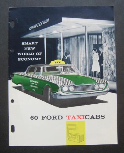 1960 Ford Taxi Cabs Product Brochure