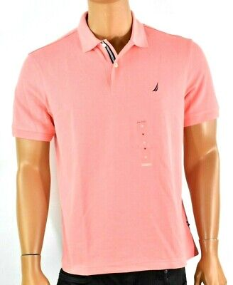 Nautica Mens Polo Shirt New M Performance Deck Pink Classic Fit Solid Casual