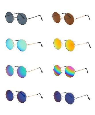 John Lennon Style Runde Stil Hippie 50er 60er Sonnenbrille Retro Festival Party ()