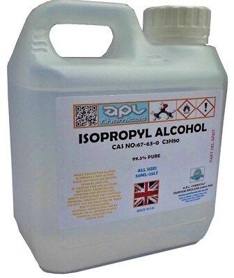 IPA ISOPROPYL ALCOHOL ISOPROPANOL 1 LITRE 99.9% PURE