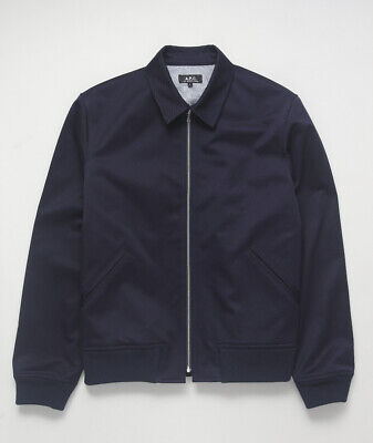 A.P.C. Men's BLOUSON JAMES BOMBER JACKET Cotton Twill Full
