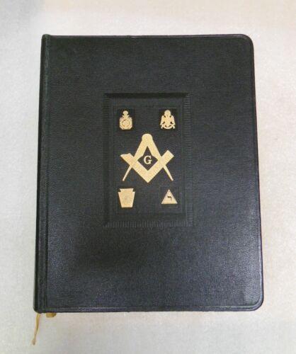 """old Freemason Bible - 1955 - Masonic oversized Edition 12"""" x 9 1/2"""" & 3"""" thick"""