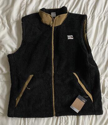 The North Face Mens Sherpa Fleece Campshire Vest Black/British Khaki XXL 2XL New