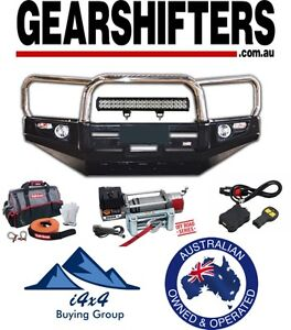LANDCRUISER 100 SERIES IFS 1998 2007 DELUXE LOOP BULL BAR STAINLESS LOOPS COMBO