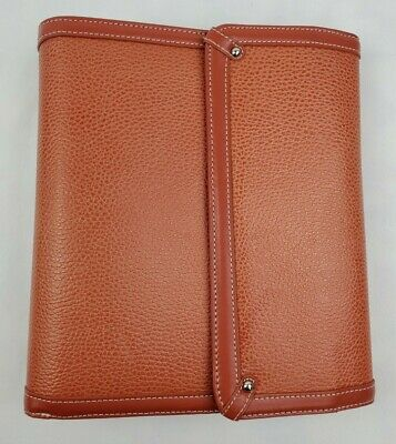 Franklin Covey Genuine Leather Organizer Planner 60550 115 1.25 Ring Salmon