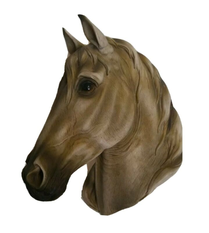 Horse Head Wall Plaque Mounted Tan Stages West 3D Hanging Display