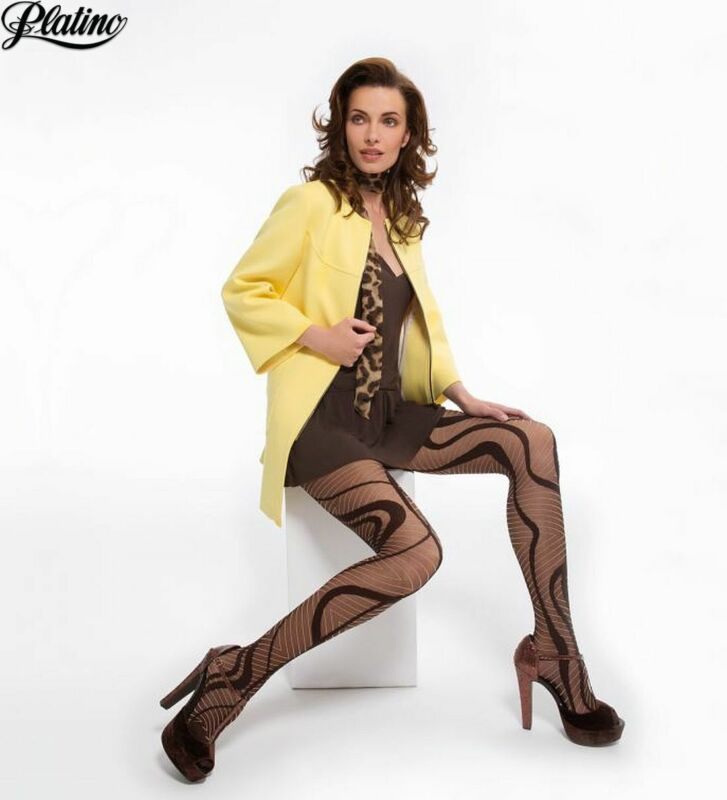 Platino Victoria 30 Denier Patterned Fashion Pantyhose Tights