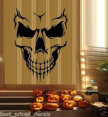 Scary Skeleton Face #6 ~ Halloween Wall or Window Decals (Halloween Face Decals)