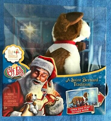 ELF ON THE SHELF ELF PETS / ST. BERNARD PLUSH TOY DOG AND BOOK / New In Package