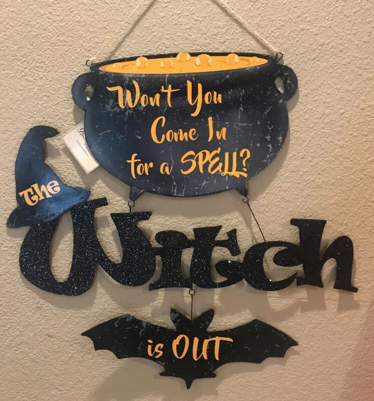 Bethany Lowe Halloween Won't You Come In Tin Sign—Retired