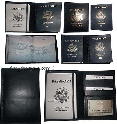 6 New USA Leather passport case wallet credit ATM card case ID holder B N  #10