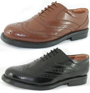 Mens-Gents-Leather-Wide-Fit-Scimitar-Brogues-Shoes-Size-6-14-NEW