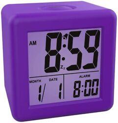 Kids Small Travel Electric Digital Alarm Clock Large Display Night Light Snooze