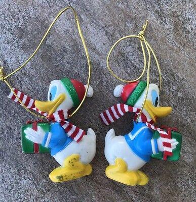 Walt Disney Co. Vintage Christmas 2 Donald Duck Ornaments