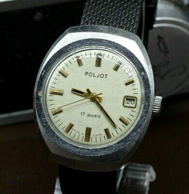 Vintage Big Poljot Soviet Dress watch 17J mens USSR Wristwatch CCCP PJ25