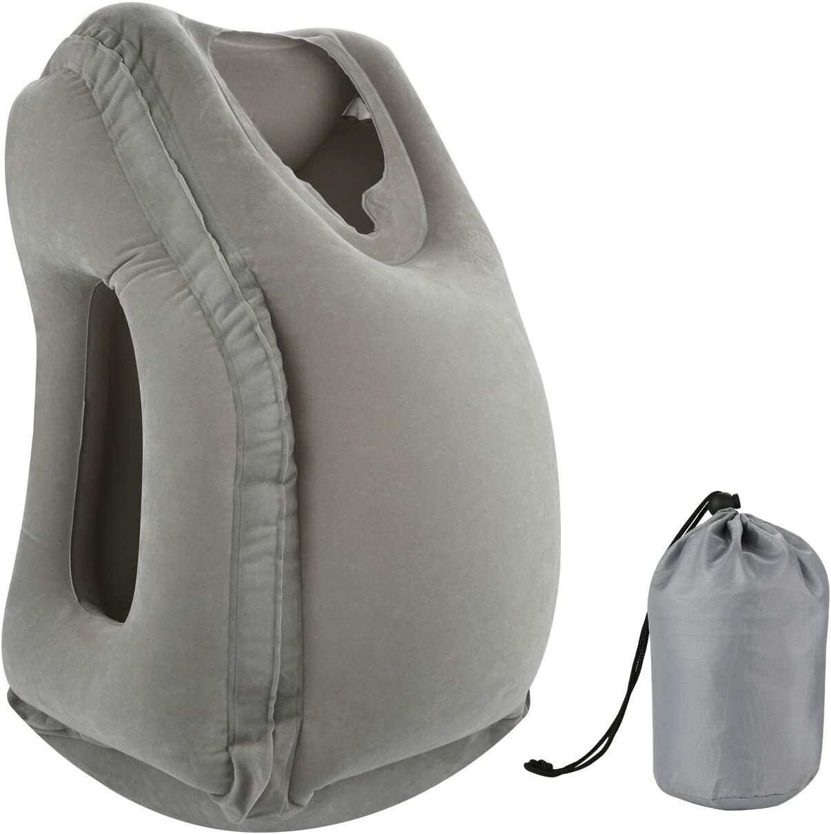 Inflatable Air Travel Pillow Airplane Office Nap Rest Neck Head Chin Cushion - $12.79