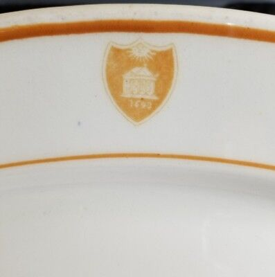 C.1940 William and Mary College Dining Hall Restaurant China Platter