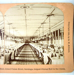 Photo stereo by kilburn 1882 grande salle manger Salle a manger new york