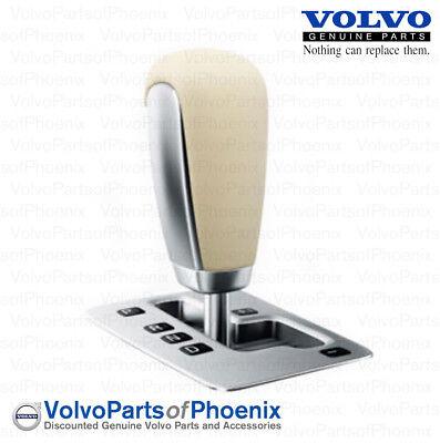 Genuine Volvo 2007-2013 S80 XC70 S60 Leather Shift Knob with Silver Trim NEW OEM