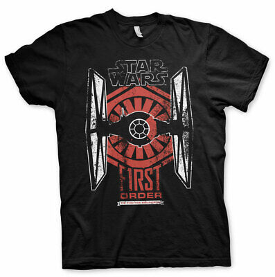 Officially Licensed Star Wars - First Order Distressed Men's T-Shirt S-XXL Sizes