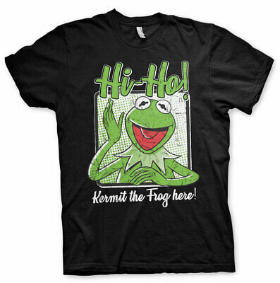 Herr Show Shirt (The Muppet Show Kermit Frog Hi-Ho! Der Frosch Die Muppets Herren Men T-Shirt)
