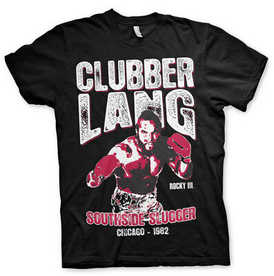 ng Southside Slugger Chicago 1982 Männer Men T-Shirt Schwarz (Clubber Lang)