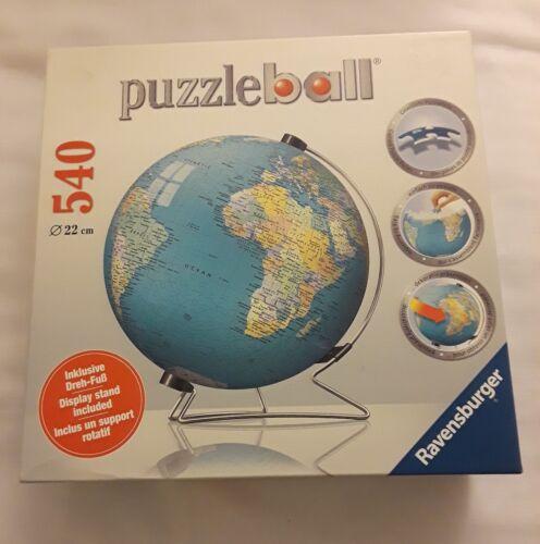New Ravernsburger Puzzle Ball World Globe 540 Pieces