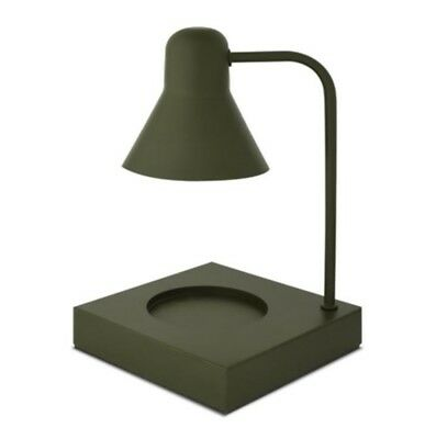 Memory Lane Candle Warmer Electric Halogen Lamp Stand Colors Dark Olive Green