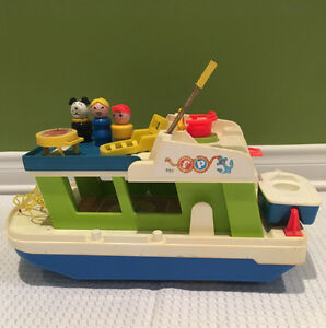Vintage fisher price house boat