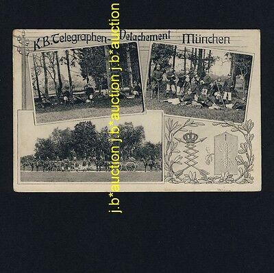 MÜNCHEN K.B. Telegraphen-Detachment / Telegrafie / Militär * AK um 1910