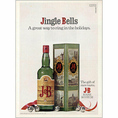 1975 J&B: Jingle Bells Great Way to Ring In the Holidays Vintage Print Ad