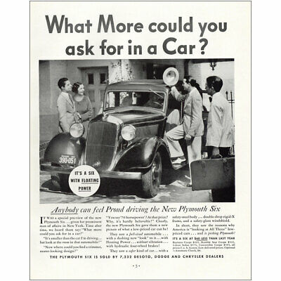 1933 Plymouth Six: What More Could You Ask For In a Car Vintage Print Ad