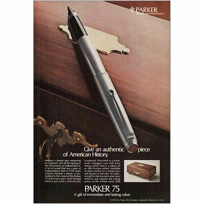 1975 Parker 75: American History Vintage Print Ad
