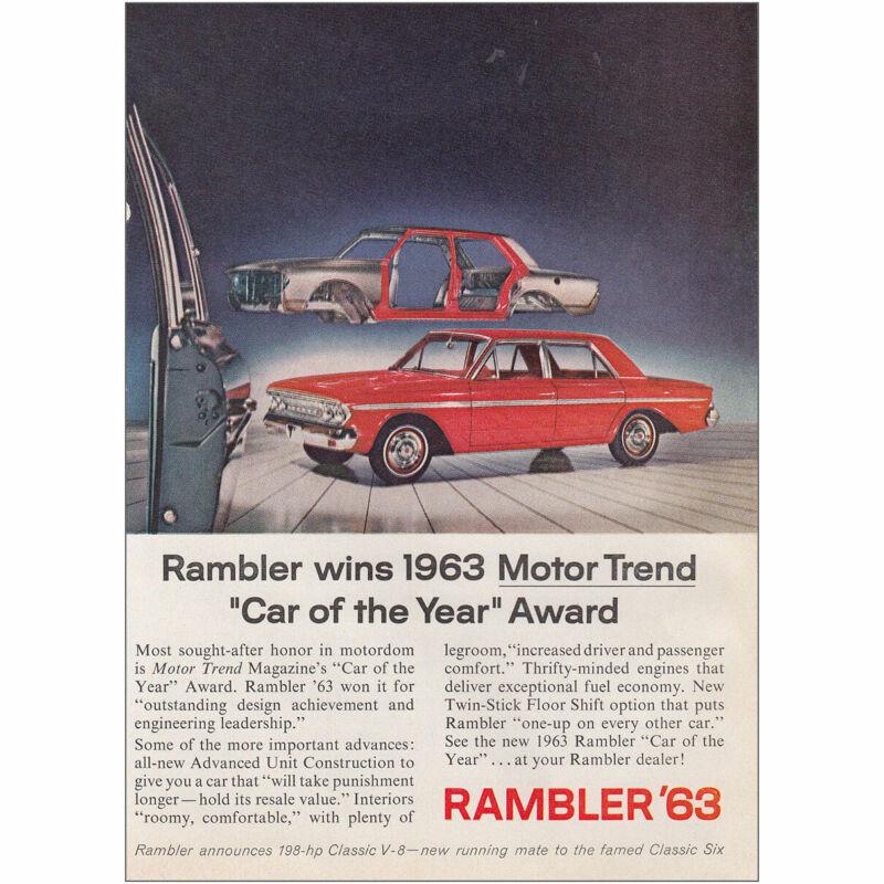 1963 Rambler: Car of the Year Award Vintage Print Ad